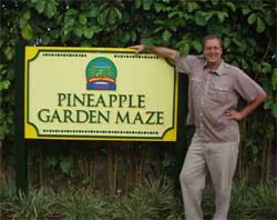 Entrance to the Dole Pineapple Maze