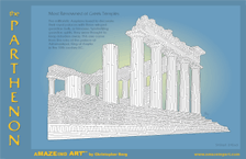 maze poster of the Parthenon